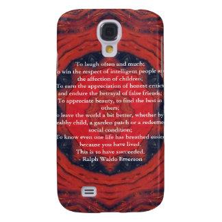Ralph Waldo Emerson inspirational quote Galaxy S4 Case