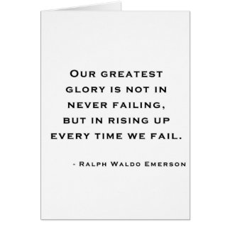 Ralph Waldo Emerson - Motivation Quote Greeting Card