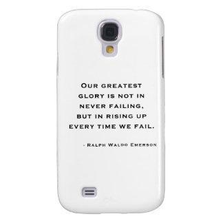 Ralph Waldo Emerson - Motivation Quote Samsung Galaxy S4 Cover