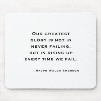 Ralph Waldo Emerson - Motivation Quote Mouse Pads
