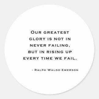 Ralph Waldo Emerson - Motivation Quote Round Sticker