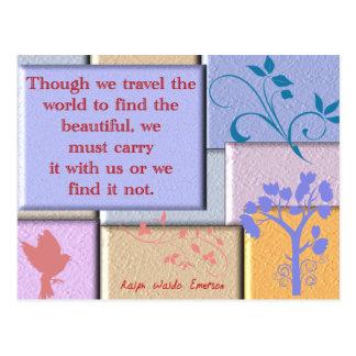 Ralph Waldo Emerson Postcard