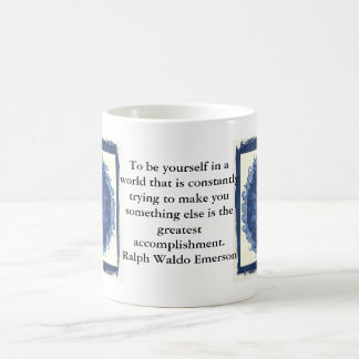 Ralph Waldo Emerson QUOTATION  inspirational Basic White Mug