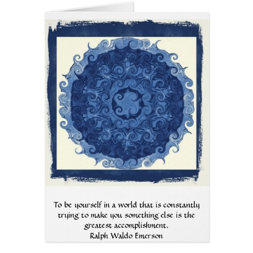Ralph Waldo Emerson QUOTATION  inspirational Cards