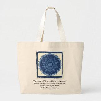 Ralph Waldo Emerson QUOTATION  inspirational Jumbo Tote Bag
