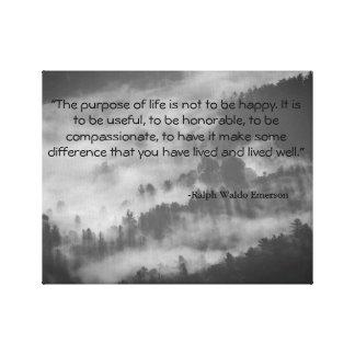 Ralph Waldo Emerson Quote Canvas Art Black & White Canvas Prints