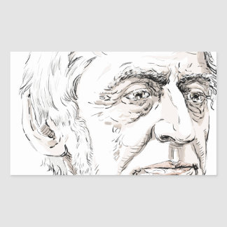 Ralph Waldo Emerson Rectangular Sticker