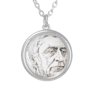 Ralph Waldo Emerson Silver Plated Necklace