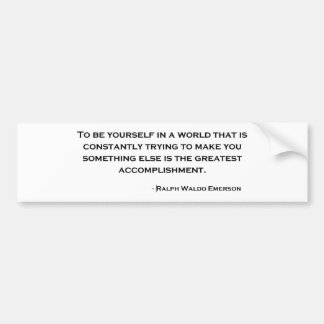 Ralph Waldo Emerson Wise Quote Bumper Sticker
