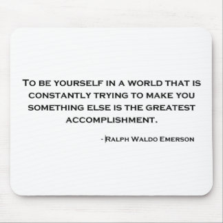 Ralph Waldo Emerson Wise Quote Mouse Pads