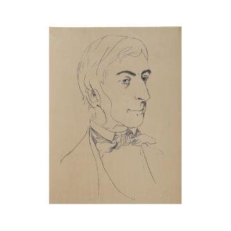 Ralph Waldo Emerson Wood Poster