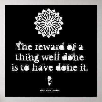 Ralph Waldo Emerson - Words of Wisdom Poster
