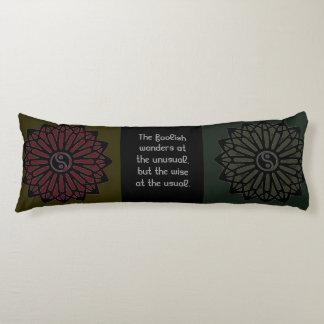 Ralph Waldo Emerson Yin Yang Quote Body Cushion