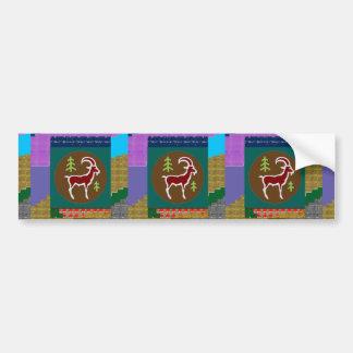 RAM Animal Coloful Artistic Cartoon Greetings GIFT Bumper Sticker