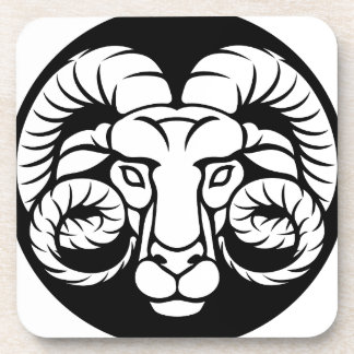 Ram Aries Zodiac Sign Coaster