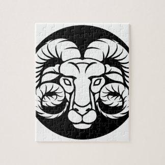 Ram Aries Zodiac Sign Jigsaw Puzzle