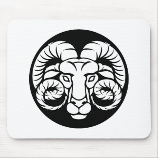 Ram Aries Zodiac Sign Mouse Pad