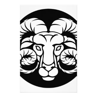 Ram Aries Zodiac Sign Stationery