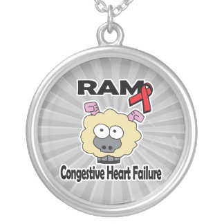 RAM Congestive Heart Failure Silver Plated Necklace
