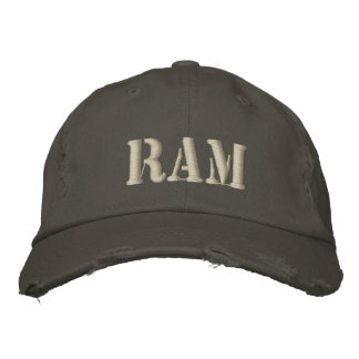 RAM EMBROIDERED HAT