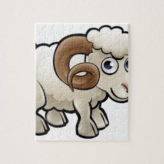 Ram Farm Animals Cartoon Character Jigsaw Puzzle