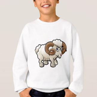 Ram Farm Animals Cartoon Character Sweatshirt