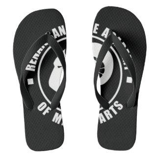 RAM Flip Flops, Large White Logo Thongs