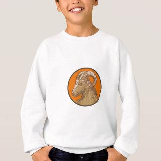 Ram Goat Head Circle Drawing Sweatshirt
