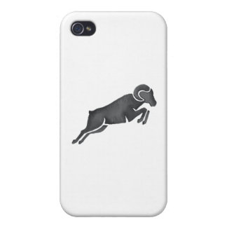 Ram Goat Silhouette Jumping Watercolor iPhone 4 Case