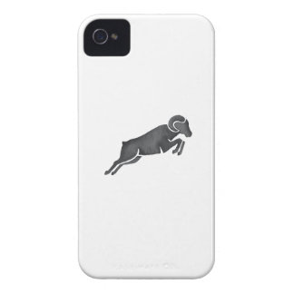 Ram Goat Silhouette Jumping Watercolor iPhone 4 Cases