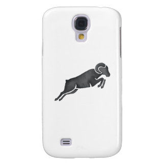 Ram Goat Silhouette Jumping Watercolor Samsung Galaxy S4 Case