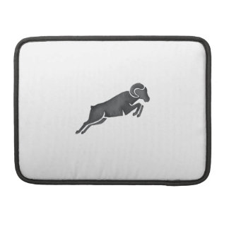 Ram Goat Silhouette Jumping Watercolor Sleeve For MacBook Pro