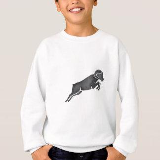 Ram Goat Silhouette Jumping Watercolor Sweatshirt