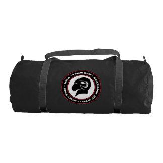 RAM Gym Bag, Black and Red Logo Gym Bag