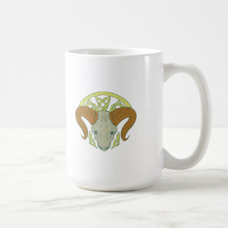 Ram Head Celtic Knot Coffee Mug