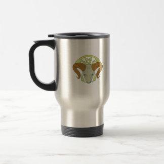 Ram Head Celtic Knot Travel Mug