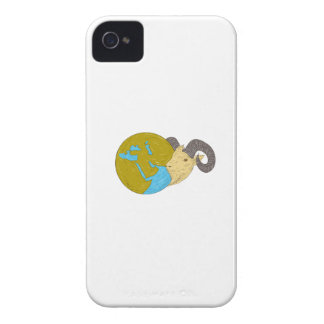 Ram Head Middle East Globe Drawing Case-Mate iPhone 4 Case