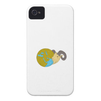 Ram Head Middle East Globe Drawing iPhone 4 Case-Mate Case