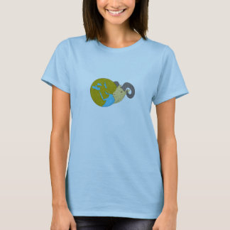 Ram Head Middle East Globe Drawing T-Shirt