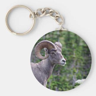 Ram in a Field Key Ring