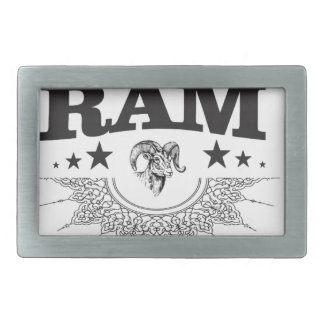 ram of the black star rectangular belt buckle