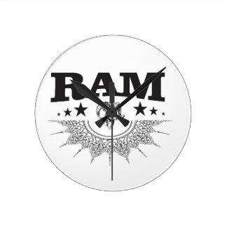 ram of the black star round clock