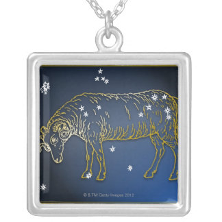 Ram Silver Plated Necklace