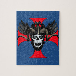 Ram skull 3 tw jigsaw puzzle