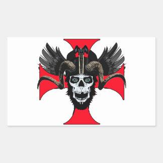 Ram skull 3 tw rectangular sticker