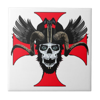 Ram skull 3 tw small square tile
