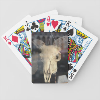 ram skull cool poker deck