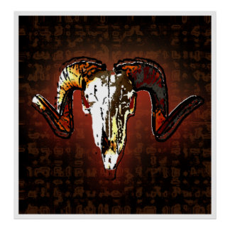 ram skull poster