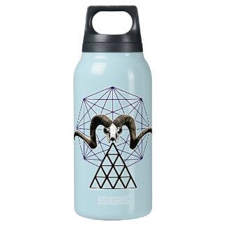 Ram skull sacred geometry insulated water bottle
