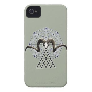 Ram skull sacred geometry iPhone 4 covers